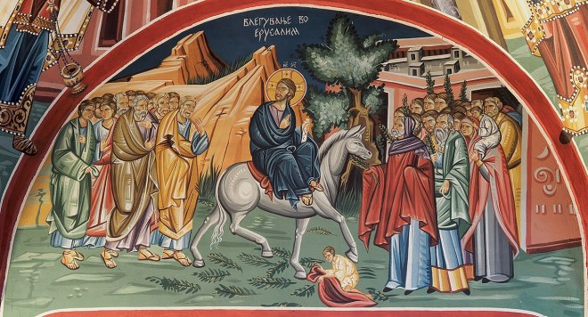Church_fresco_-_Triumphal_entry_into_Jerusalem_Bitola